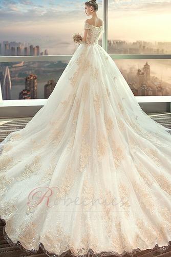 Robe de mariée aligne Lacet Naturel taille Perler Eglise Épaule Dégagée - Page 2