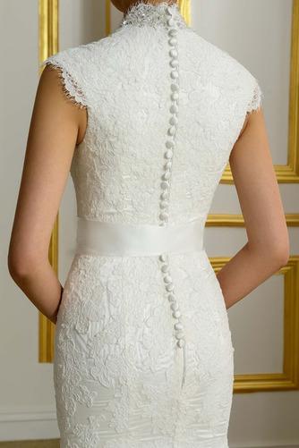 Robe de mariée Hiver Plage Poire Col en V Sans Manches Modeste - Page 5