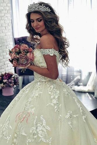 Robe de mariée Appliques Décolleté Dans le Dos Formelle Satin - Page 3