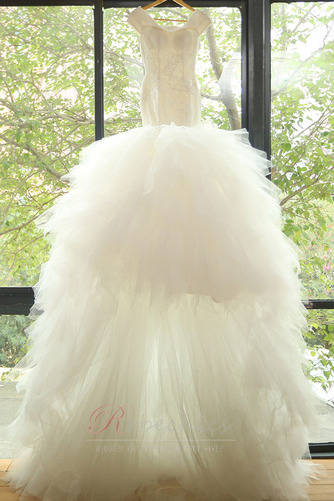 Robe de mariée Sirène Perlé Traîne Courte Elégant Sans Manches - Page 5