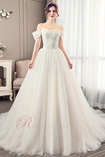 Robe de mariée Été Manche Courte Salle Manquant Mancheron A-ligne - Page 1