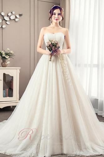 Robe de mariée Bustier A-ligne Automne Chaussez Traîne Moyenne - Page 1