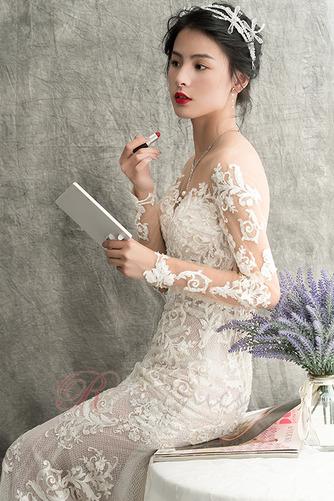 Robe de mariée Longue Tissu Dentelle Elégant Salle Printemps Appliques - Page 4