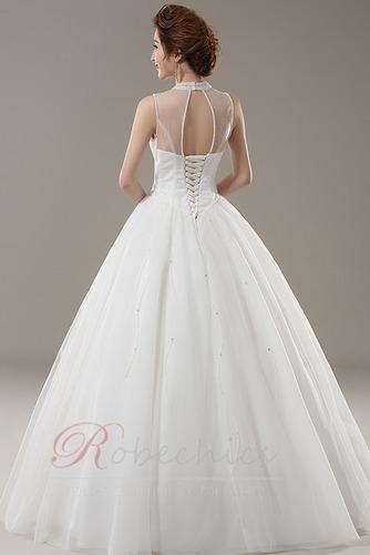Robe de mariée aligne Traîne Courte Elégant Lacez vers le haut - Page 2