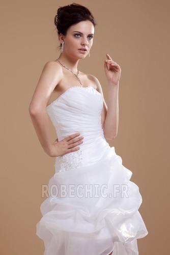 Robe de mariée Plage Avec Jacket Manquant Sans bretelles Pailleté - Page 6