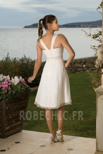 Robe de mariée Col Carré A-ligne De plein air Empire Au Drapée - Page 2