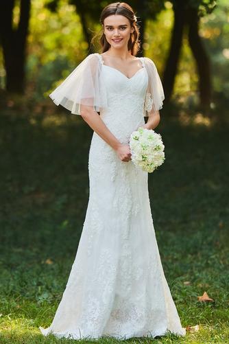 Robe de mariée Col Élisabéthain Appliques Exquisite Taille chute - Page 1