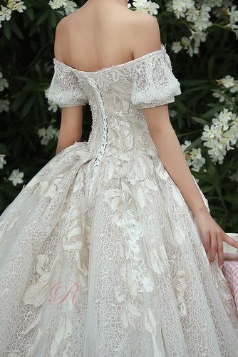 Robe de mariée Froid Lacez vers le haut Tulle Cérémonial Manche Courte - Page 6