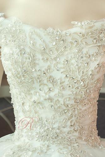 Robe de mariée aligne Lacet Naturel taille Perler Eglise Épaule Dégagée - Page 5