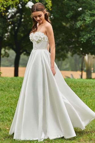 Robe de mariée Froid Satin Appliquer Sans Manches Poire De plein air - Page 2