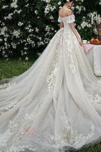 Robe de mariée Froid Lacez vers le haut Tulle Cérémonial Manche Courte - Page 2
