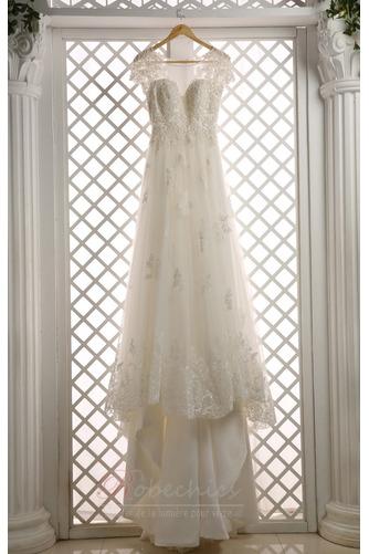 Robe de mariée Col ras du Cou Poire Longue Manche de T-shirt Naturel taille - Page 3