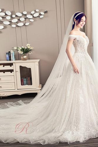 Robe de mariée Longue Perle Elégant Épaule Dégagée Chaussez A-ligne - Page 3