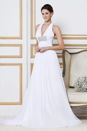 Robe de mariée Longue Col en V Elégant Automne Sans Manches Zip - Page 2