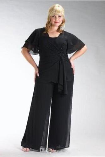 Robe de mère pantalon de costume Longueur Cheville Manche Courte - Page 1