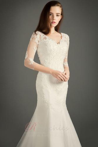 Robe de mariée Zip A-ligne Tulle Salle Naturel taille Formelle - Page 3