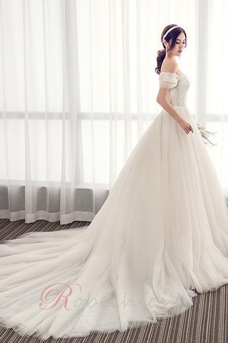 Robe de mariée Été Manche Courte Salle Manquant Mancheron A-ligne - Page 4