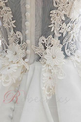 Robe de mariée Zip Bouton Épaule Dégagée Été De plein air Courte - Page 4