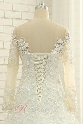 Robe de mariée Longueur ras du Sol A-ligne Lacet Manche Aérienne - Page 6