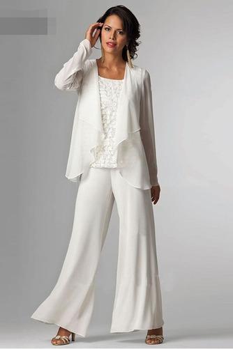 Robe de mère pantalon de costume Col Carré Dentelle Longueur Cheville - Page 2
