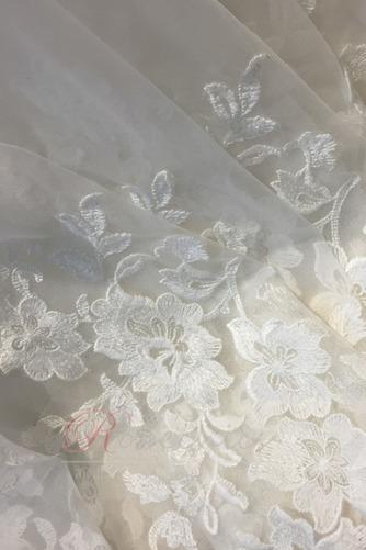 Robe de mariée De plein air Naturel taille Manche de T-shirt Traîne Courte - Page 5