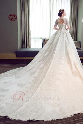 Robe de mariée Broderie A-ligne Naturel taille Satin Salle Lacet - Page 2