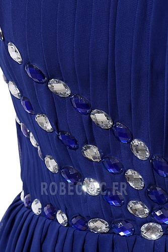 Robe de Bal Chiffon Printemps Zip Fourchure Latérale Au Drapée - Page 7