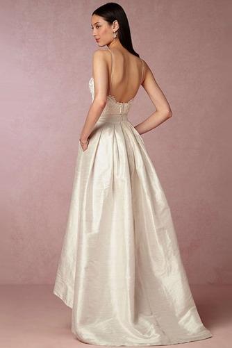 Robe de mariée Naturel taille Asymétrique Vintage Plage Taffetas - Page 2
