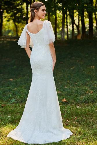 Robe de mariée Col Élisabéthain Appliques Exquisite Taille chute - Page 3