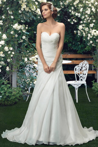 Robe de mariée Sommaire Rivage Sans Manches aligne col coeur Traîne Mi-longue - Page 2