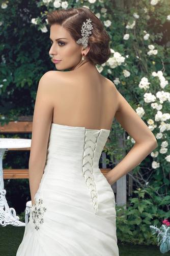 Robe de mariée Sommaire Rivage Sans Manches aligne col coeur Traîne Mi-longue - Page 5