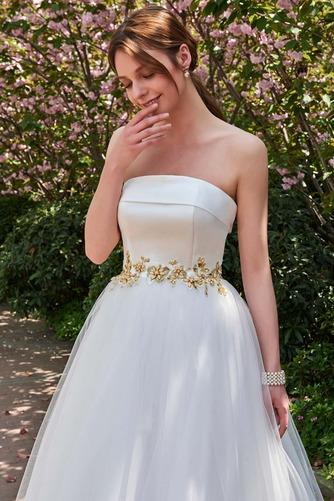 Robe de mariée Dos nu Sans bretelles Tulle Elégant Ample & Ornée - Page 4