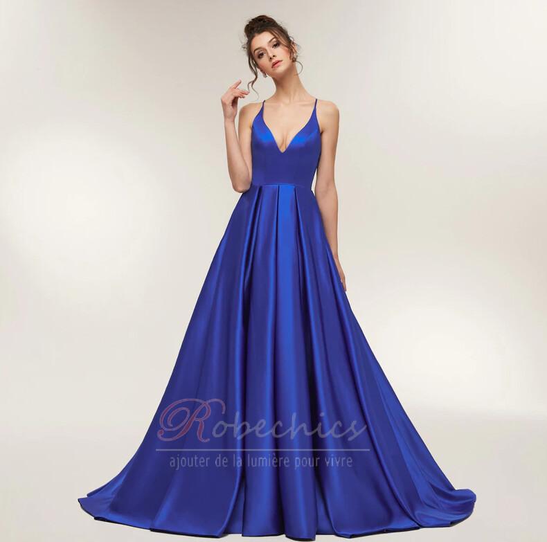 Robe de bal Bleu