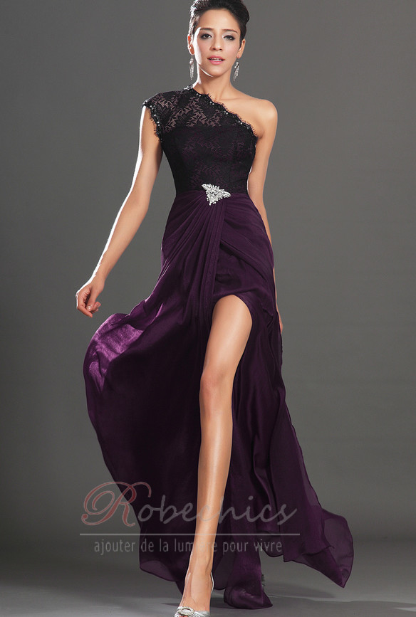 Robe de bal epur e tra ne courte ouverture frontale for Violette africane