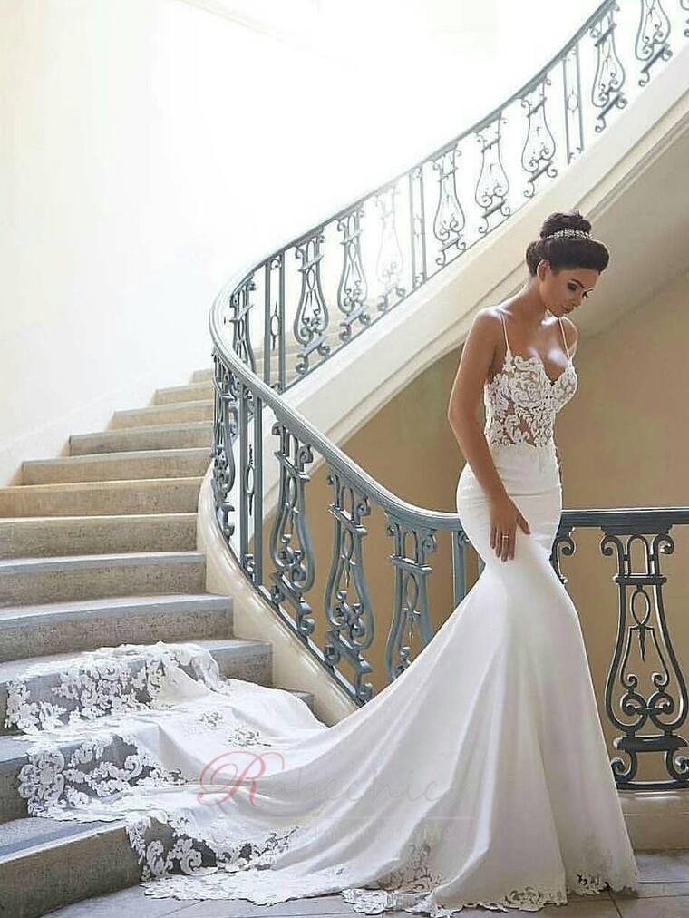 Les robes de mariée sirène montrent votre élégance