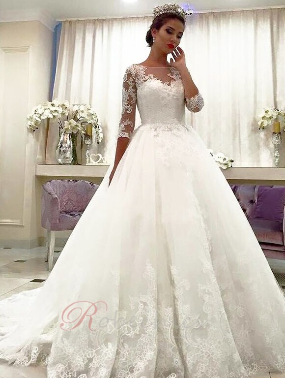 robechics.com peut trouver la robe de mariée princesse