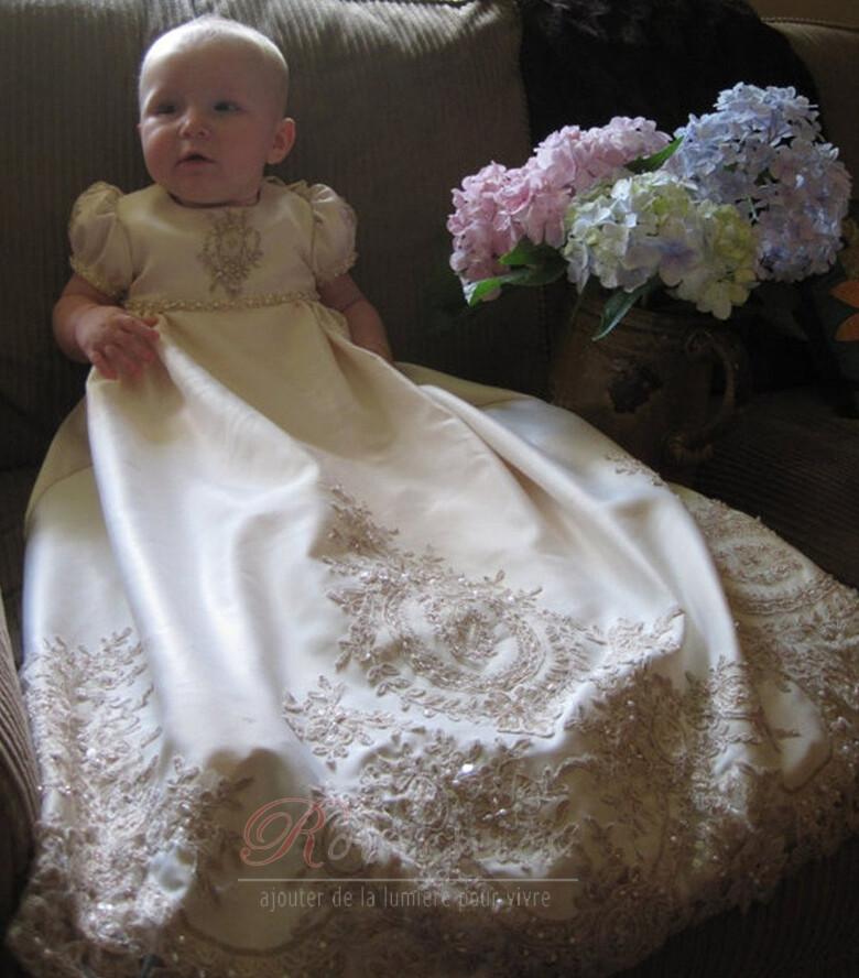 robe de bapt me haute couvert manche courte princesse automne. Black Bedroom Furniture Sets. Home Design Ideas