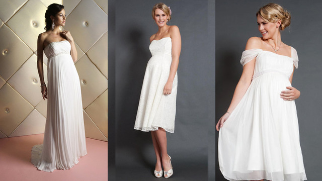 61749e806ec Robe de mariée Grossesse - RobeChics.com
